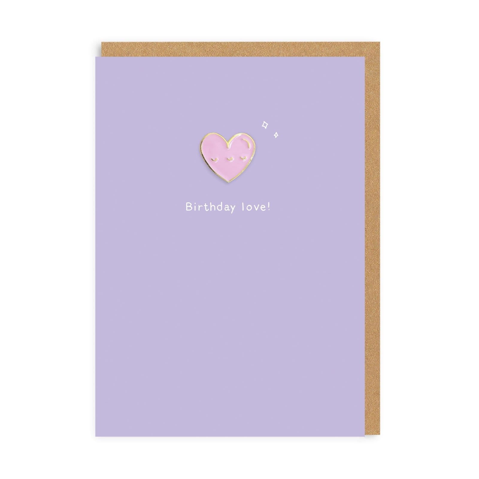 Birthday Love Enamel Pin Greeting Card