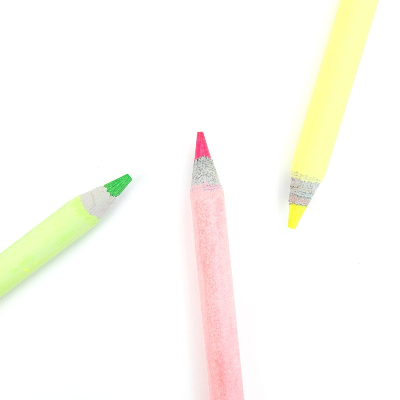 OUTLET Funky Fluro Pack of 3 Pencils