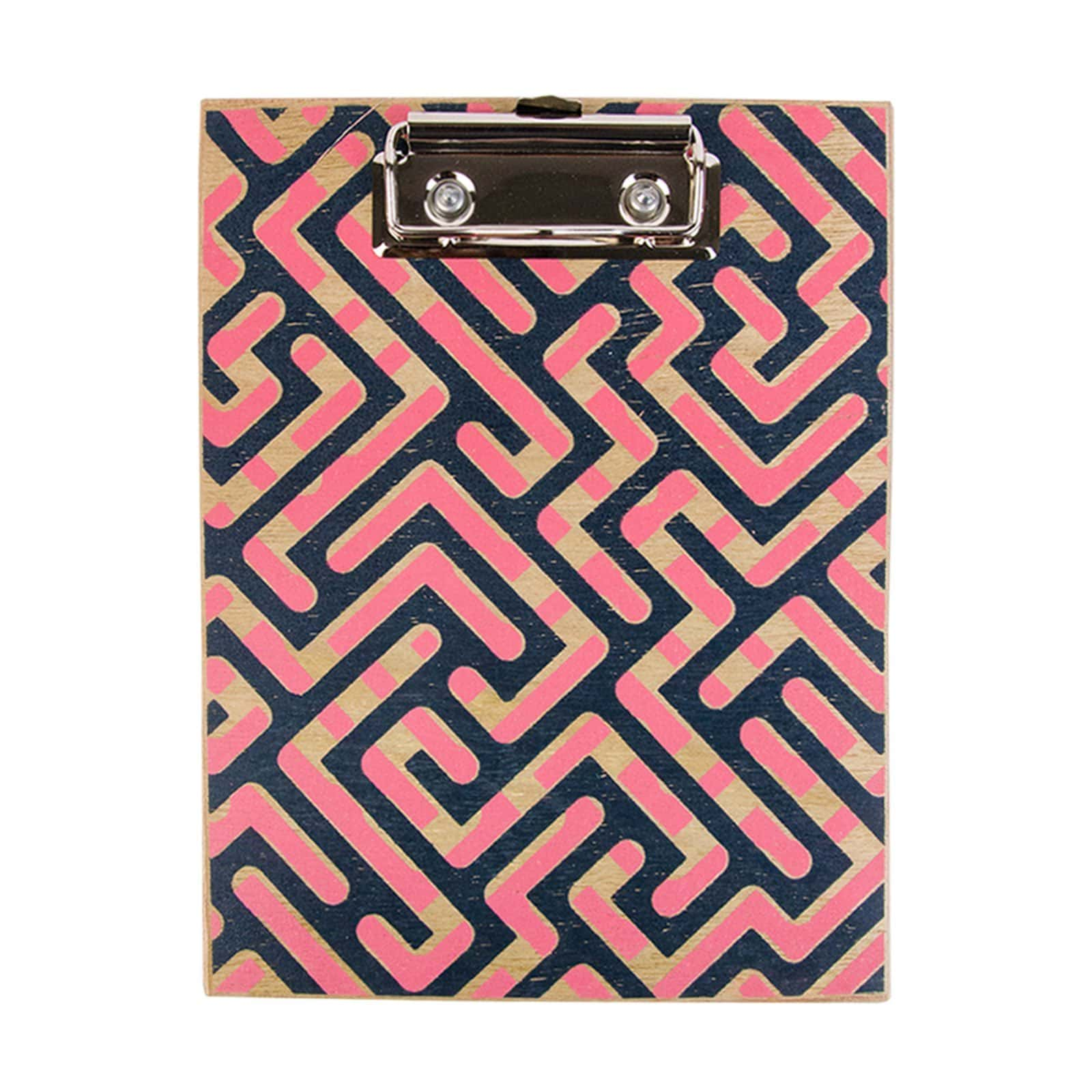 Pink and Blue Geo Clipboard