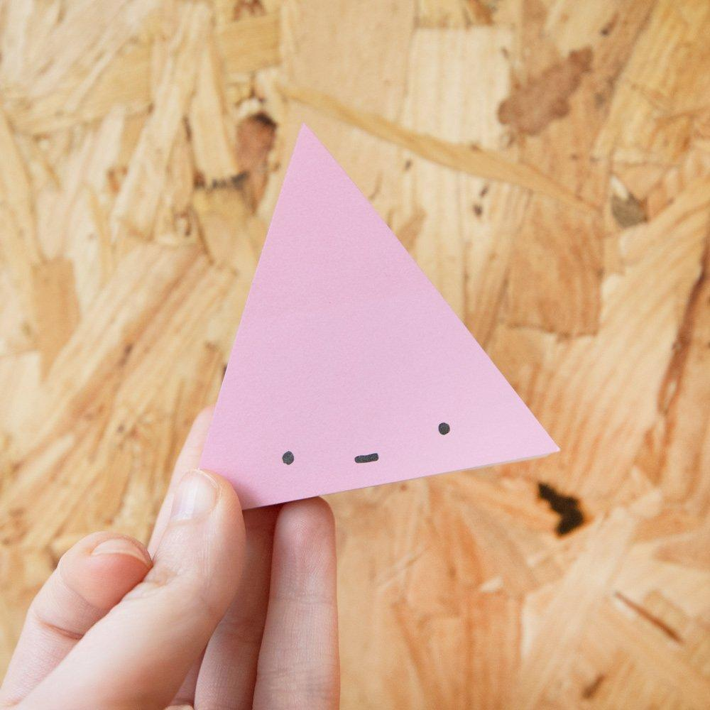 Happy Triangle Sticky Notes