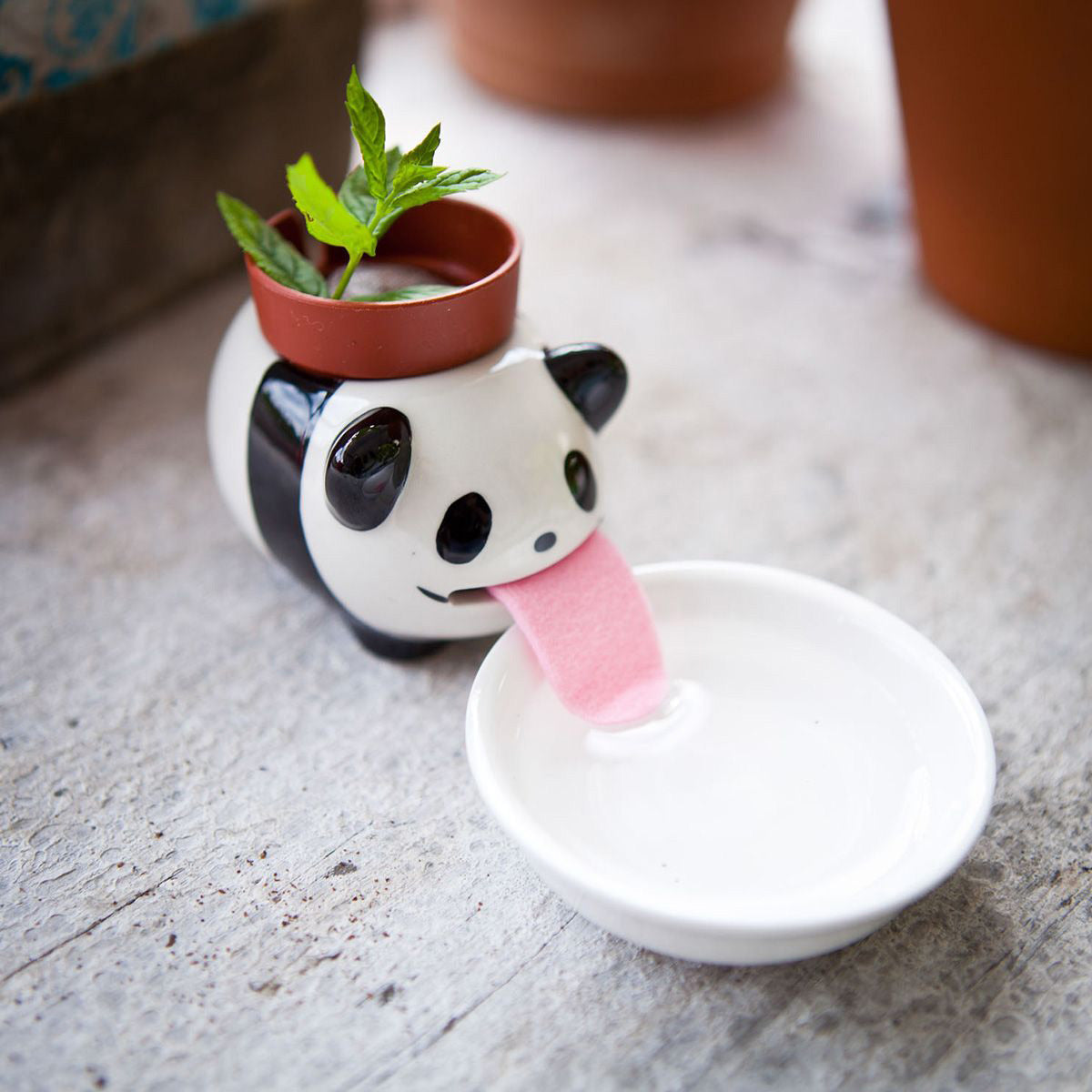 Peropons Self Drinking Panda Basil Planter