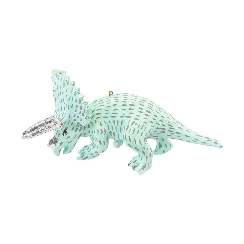 Mint Green Triceratops Tree Ornament