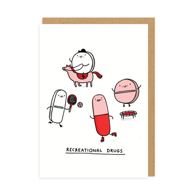 Recreational Drugs Greeting Card
