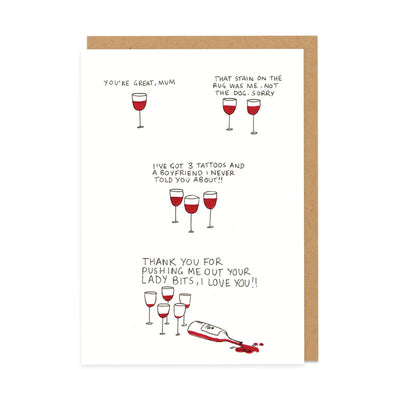 Mother's Day Wine Greeting Card