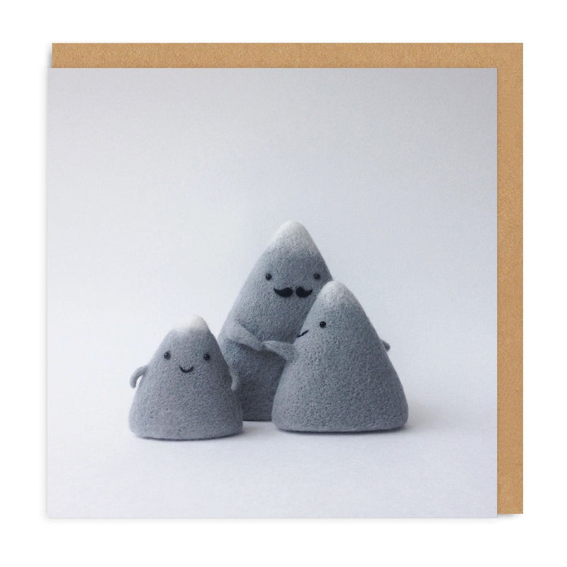 Mountain Family Square Greeting Card
