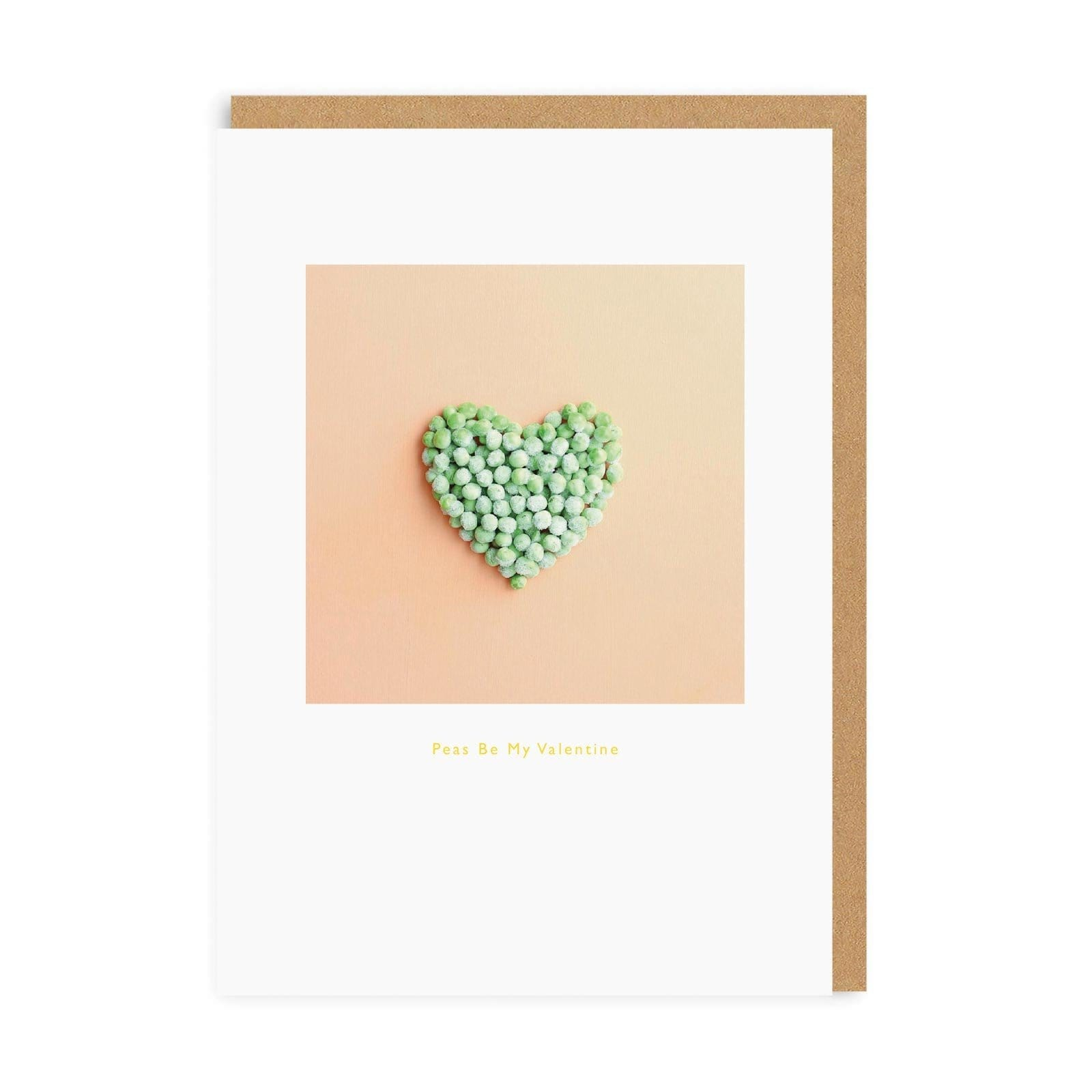 Peas Be Mine Valentine's Greeting Card