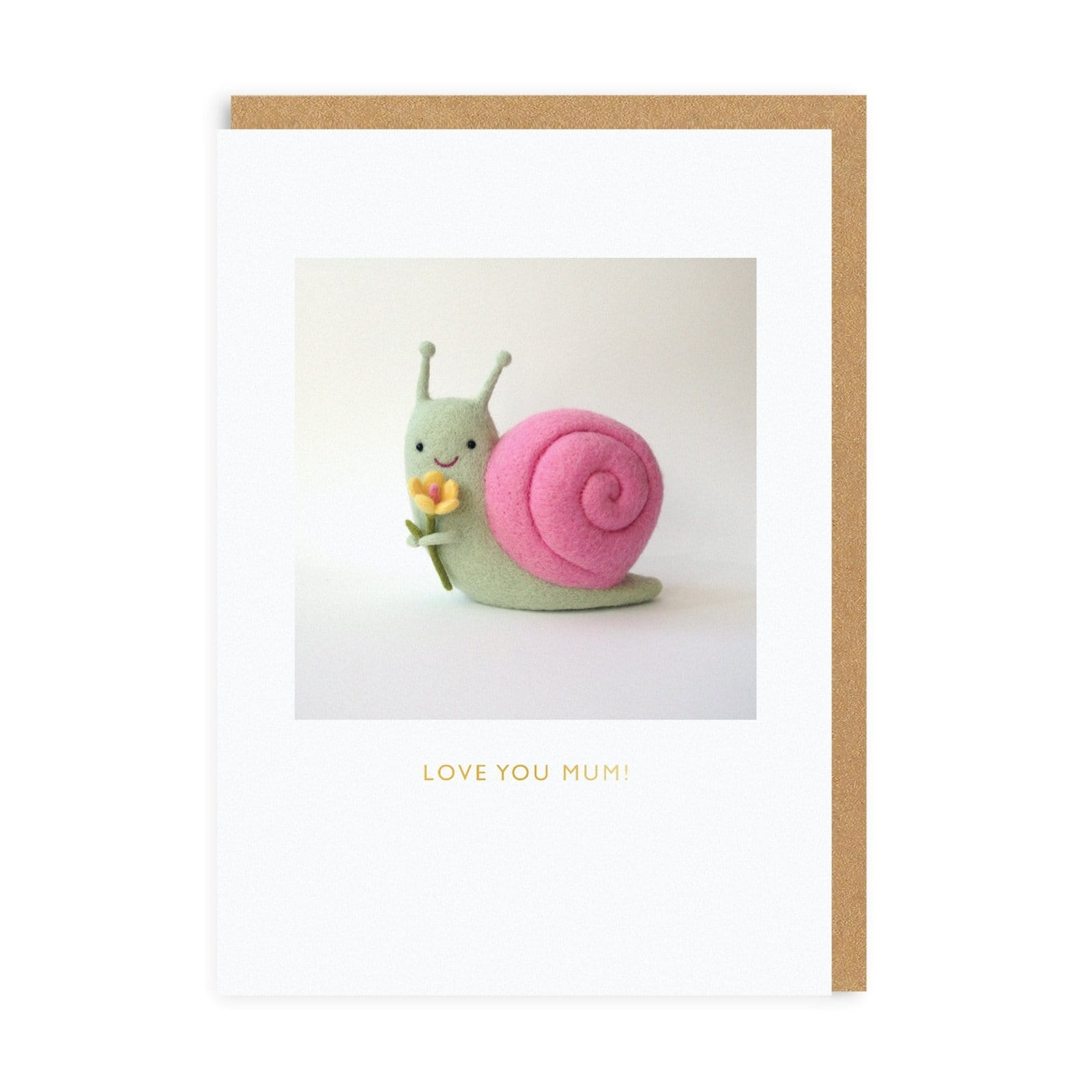 Mother's Day Snail Greeting Card