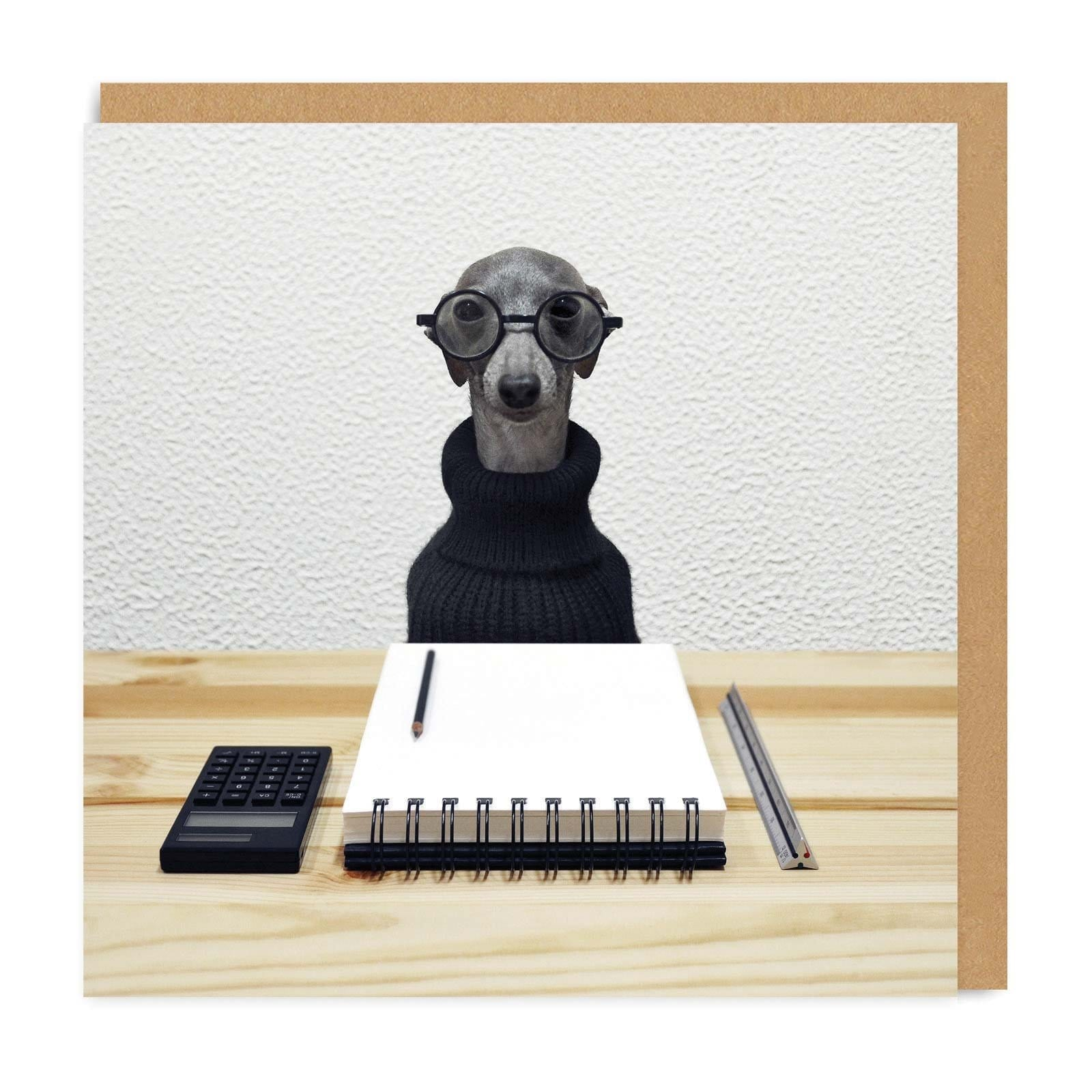 Dora The Office Dog Square Greeting Card