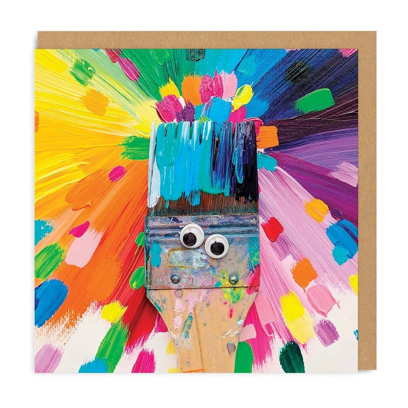 Paintbrush Square Greeting Card