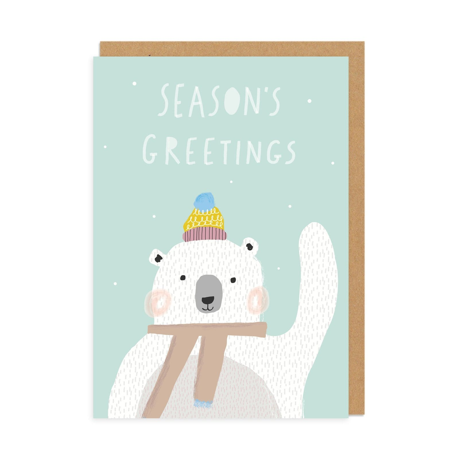 Seasons Greeting Bear Christmas Greeting Card