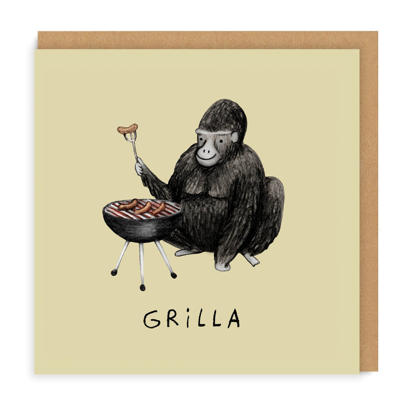 Grilla Square Greeting Card