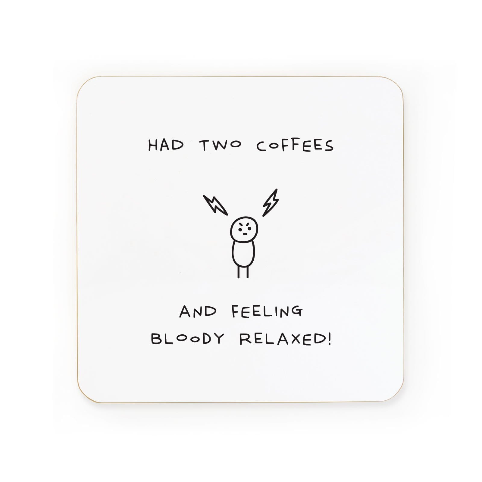Two Coffees Relaxed Coaster