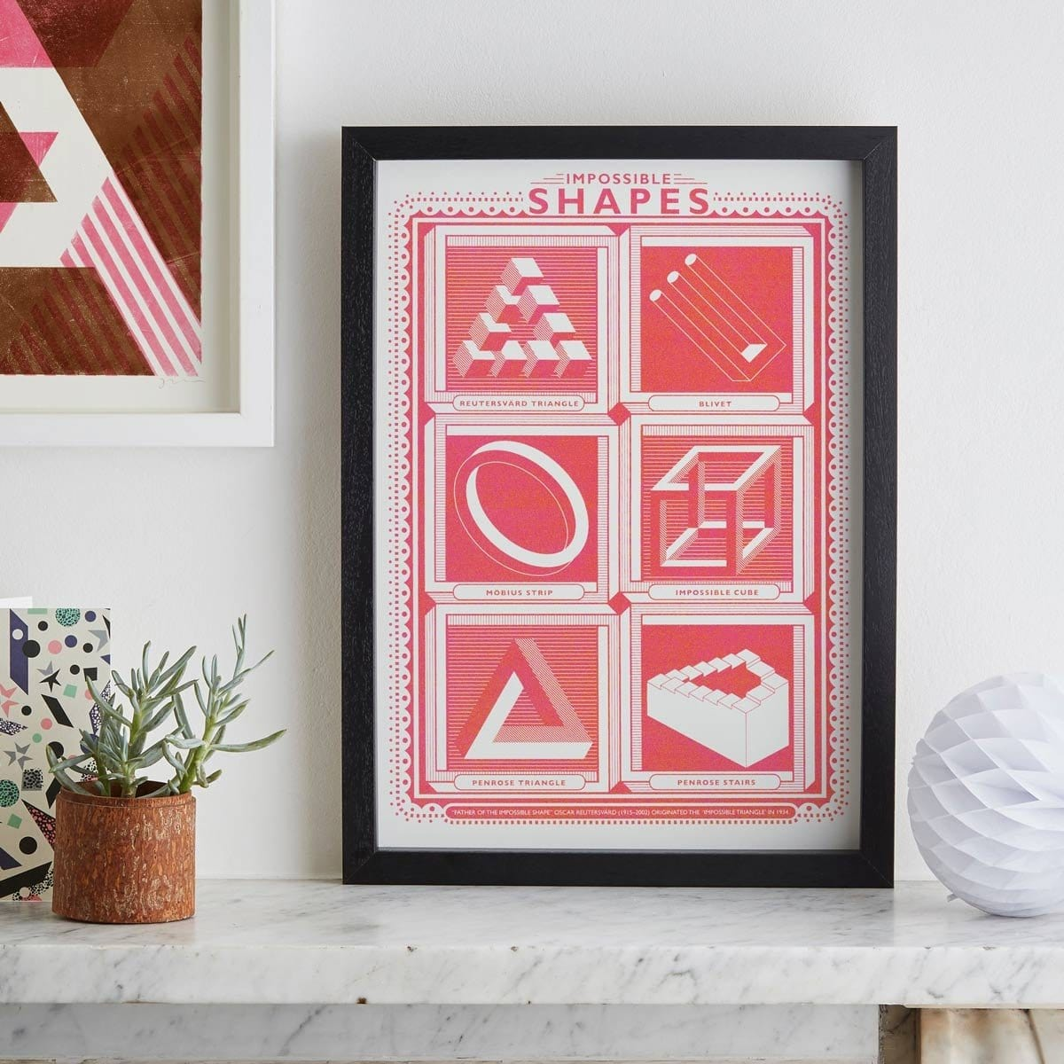 A3 Shapes Screen Print