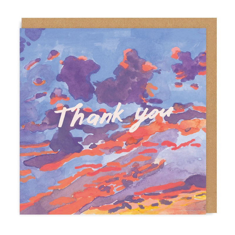 Thank You Evening Sky Square Greeting Card