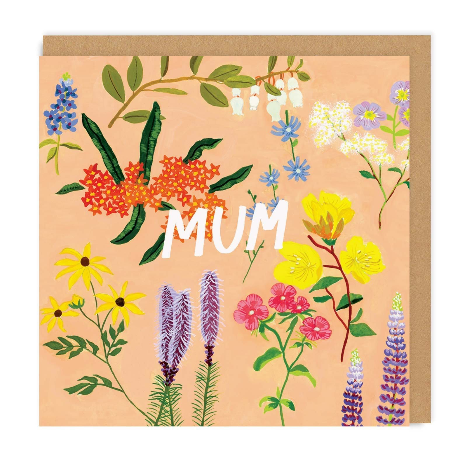 Mother's Day Floral Square Greeting Card
