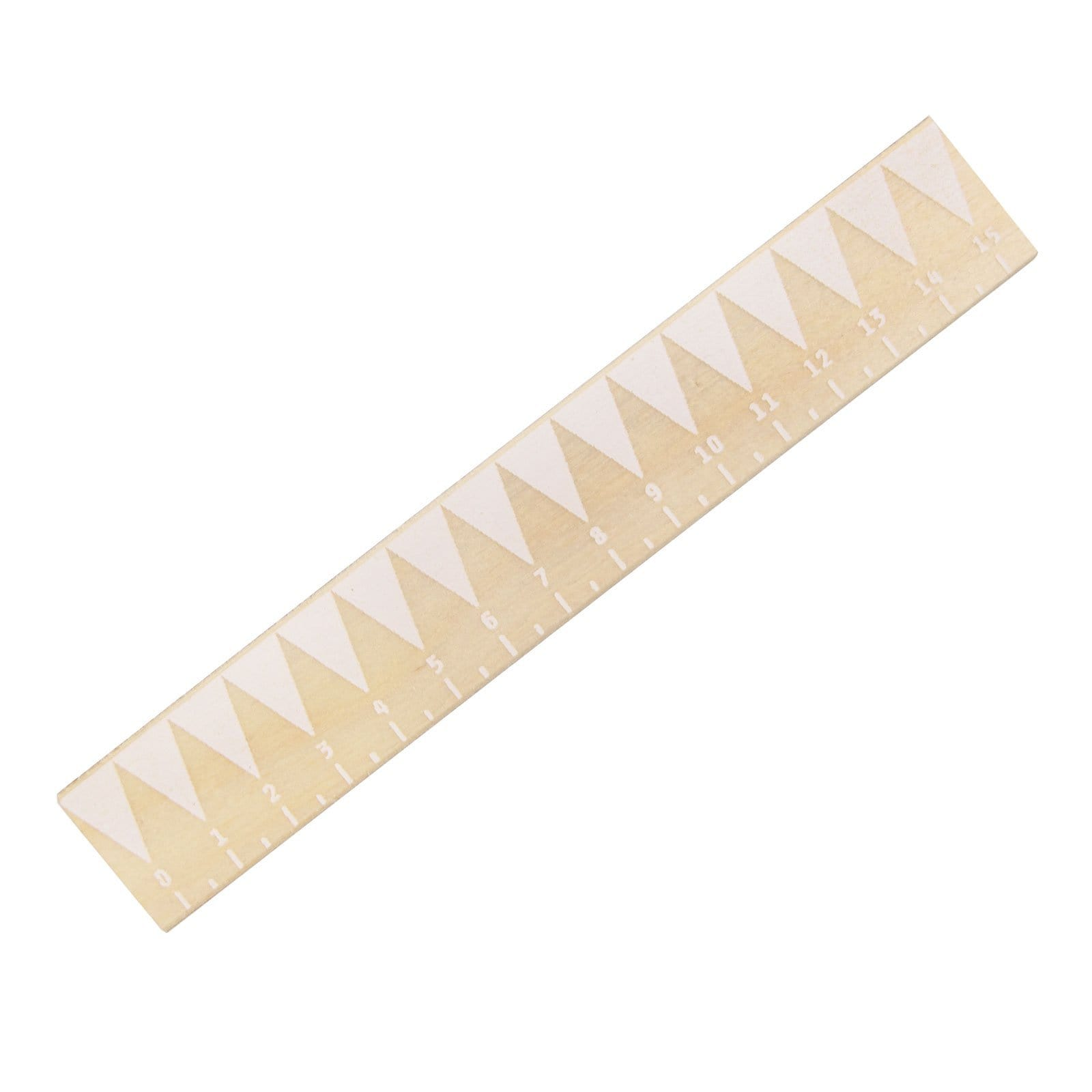 Small White Zig Zag Ruler