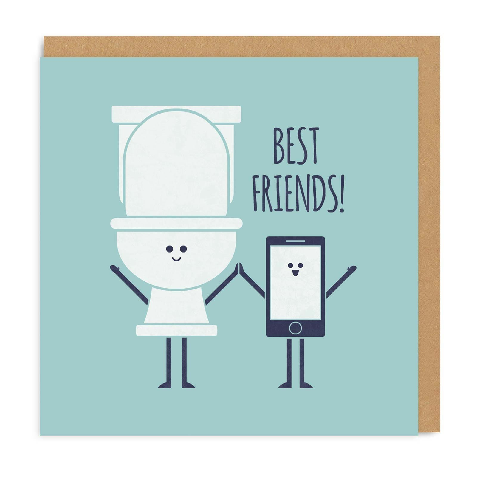 Best Friends Square Greeting Card