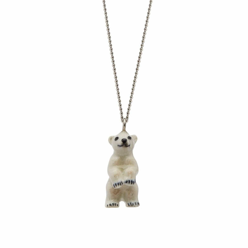 Standing Polar Bear Necklace
