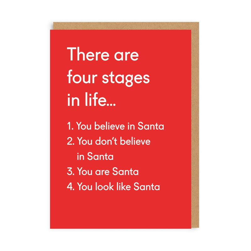 Four Stages In Life Christmas Card