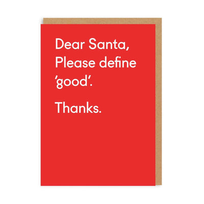 Please Define Good Santa Christmas Card
