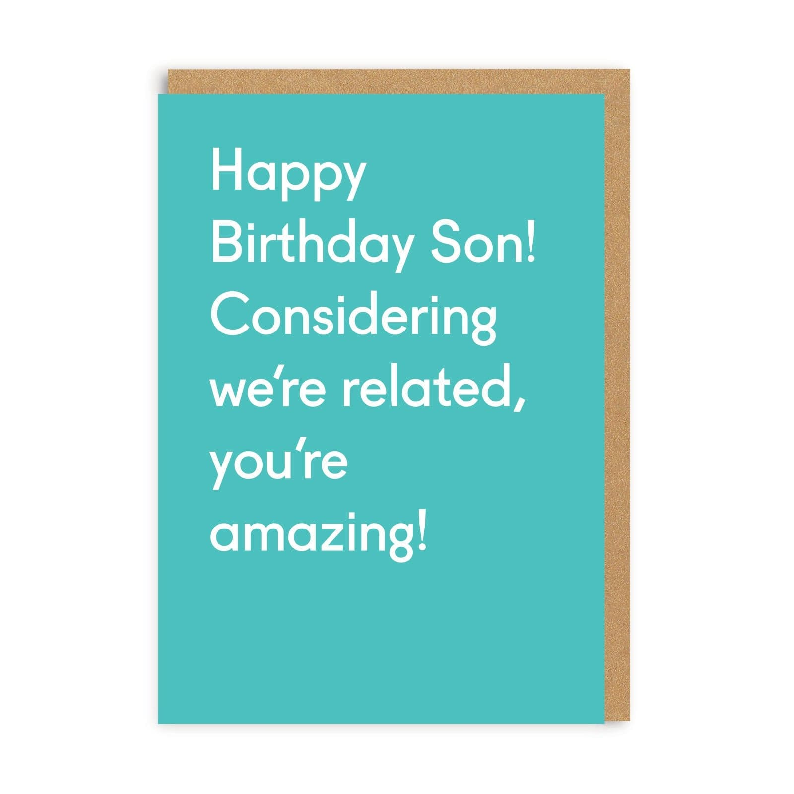 Happy Birthday Son Greeting Card