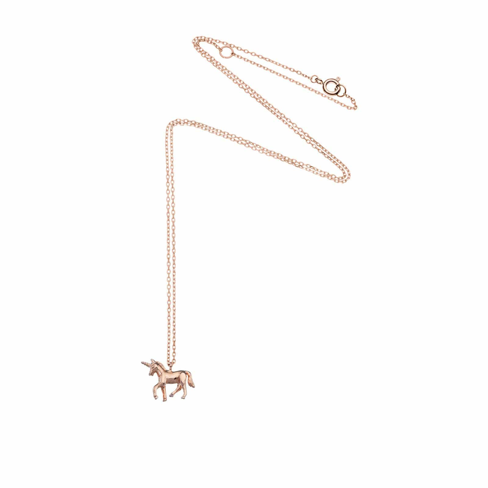 Rose Gold Plated Unicorn Necklace