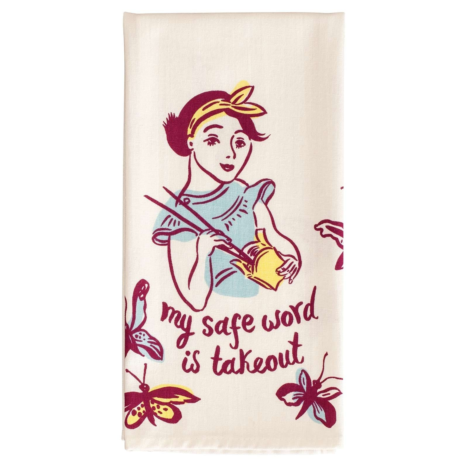 Safe Word Is Takeout Tea Towel