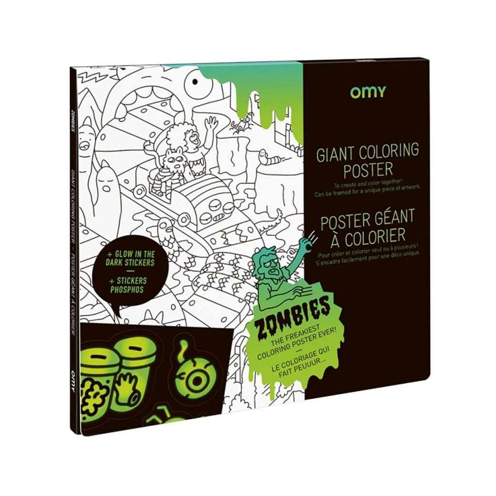 Giant Colouring Zombies Poster & Stickers