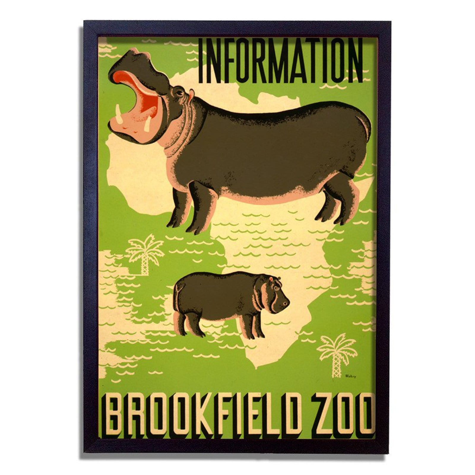 Zoo Information Art Print