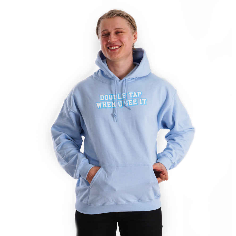 Double tap when u see it - Blue Lohilo Hoodie