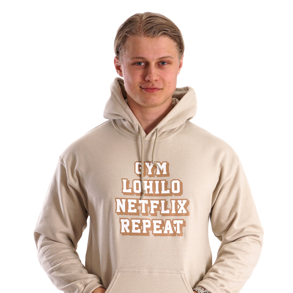 Gym Lohilo Netflix Repeat - Brown Lohilo hoodie