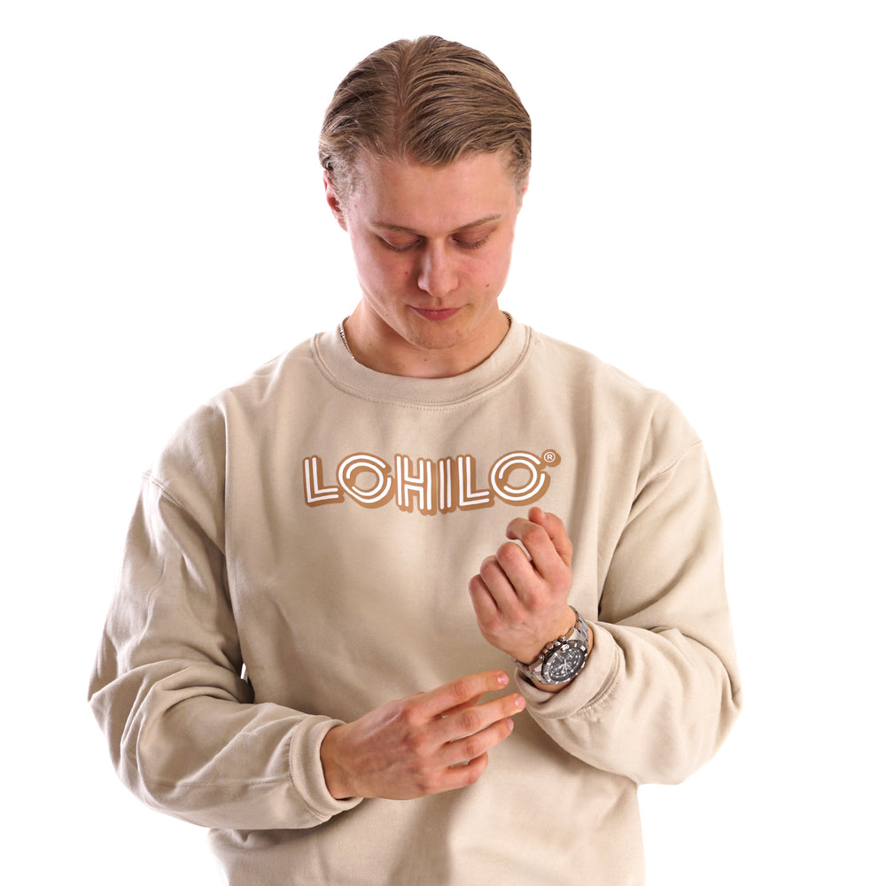 Squad goals - Brown Lohilo Logo Crew Neck