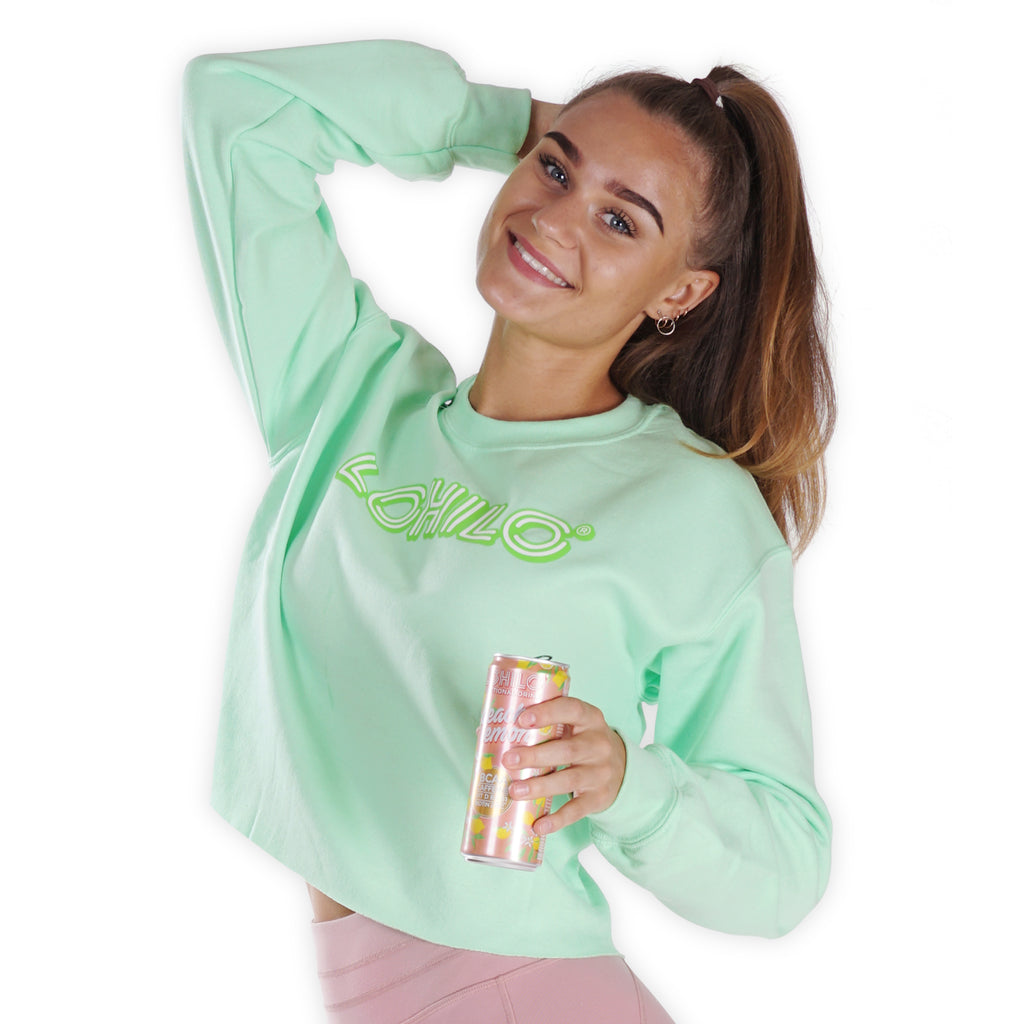 Ambassador top - Green Cropped Sweater - Lohilo
