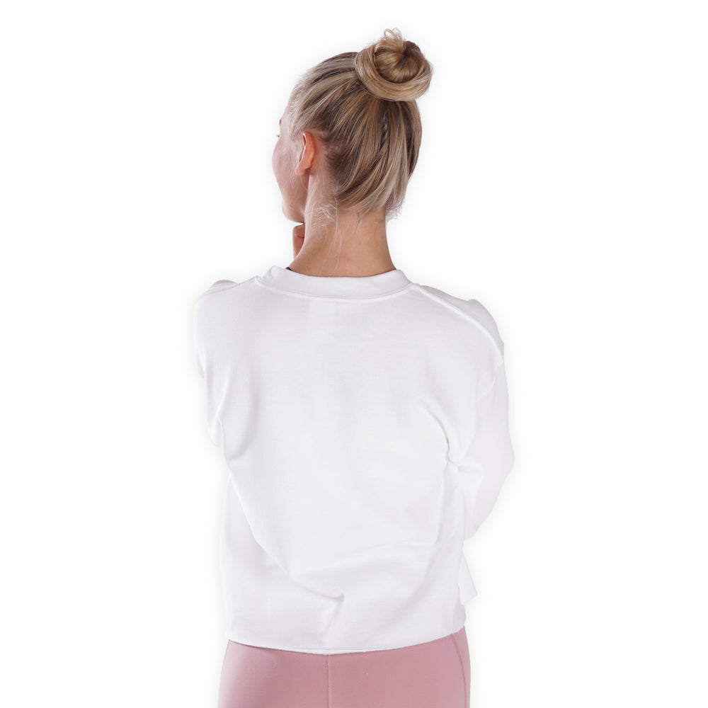 Ambassador top - White Cropped Sweater - Lohilo