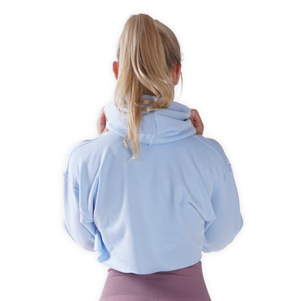 Cropped - Double tap when u see it - Blue Lohilo Hoodie - Lohilo