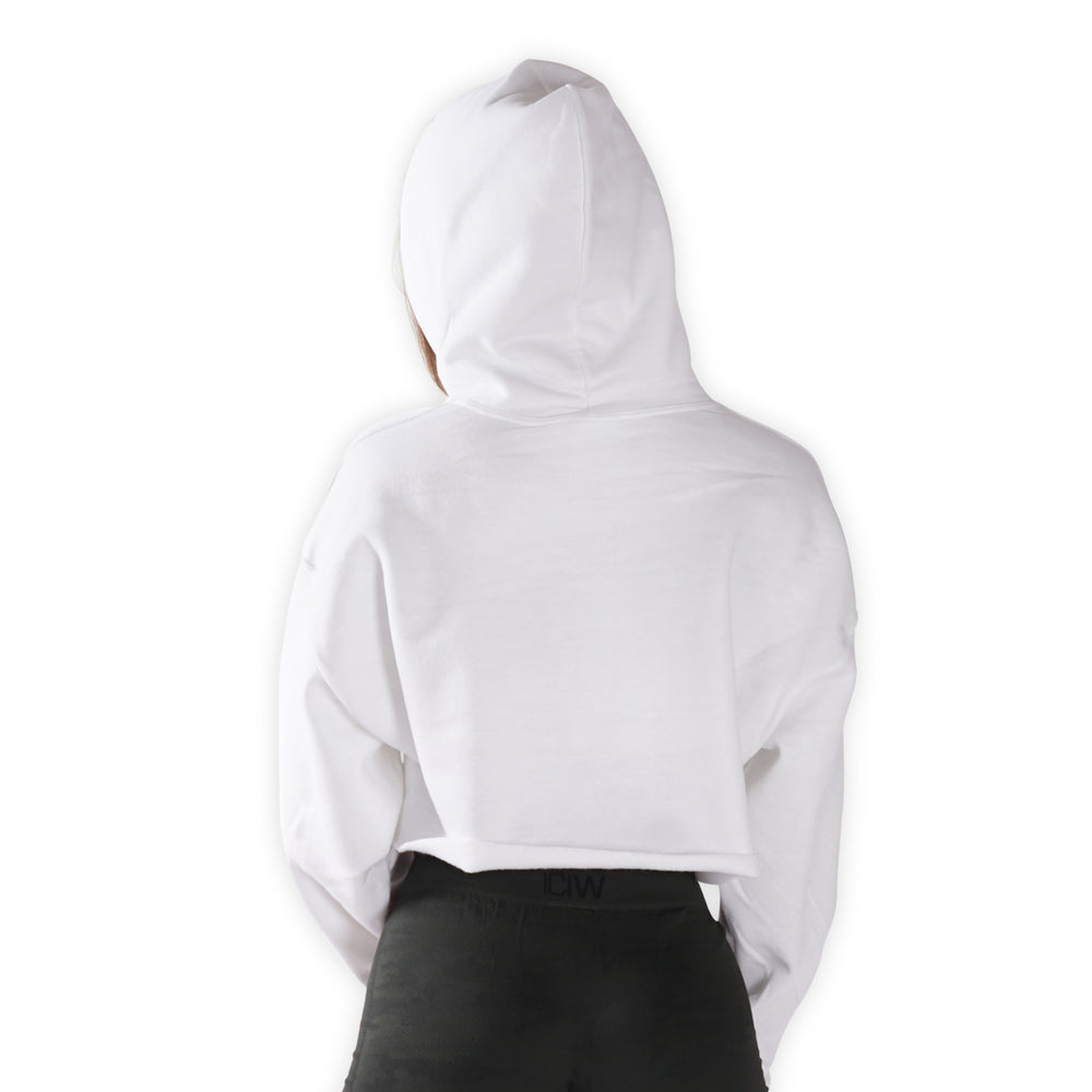 Cropped - I Woke Up Like This - White Lohilo hoodie - Lohilo