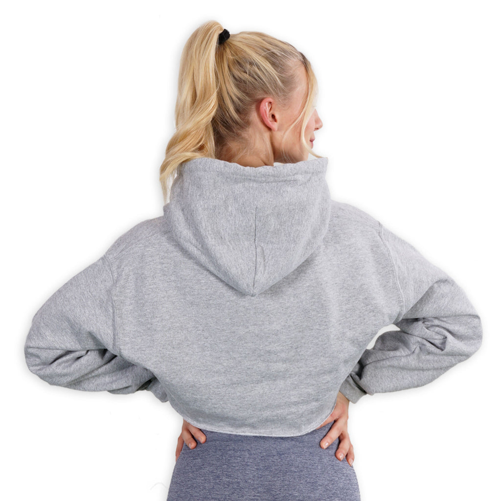 Cropped - U have no Idea Gray Hoodie