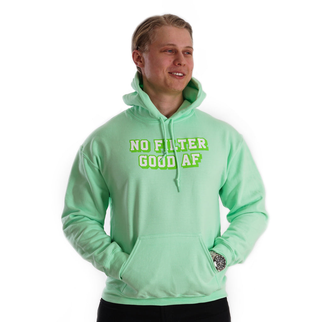 No filter Good AF - Green Lohilo Hoodie