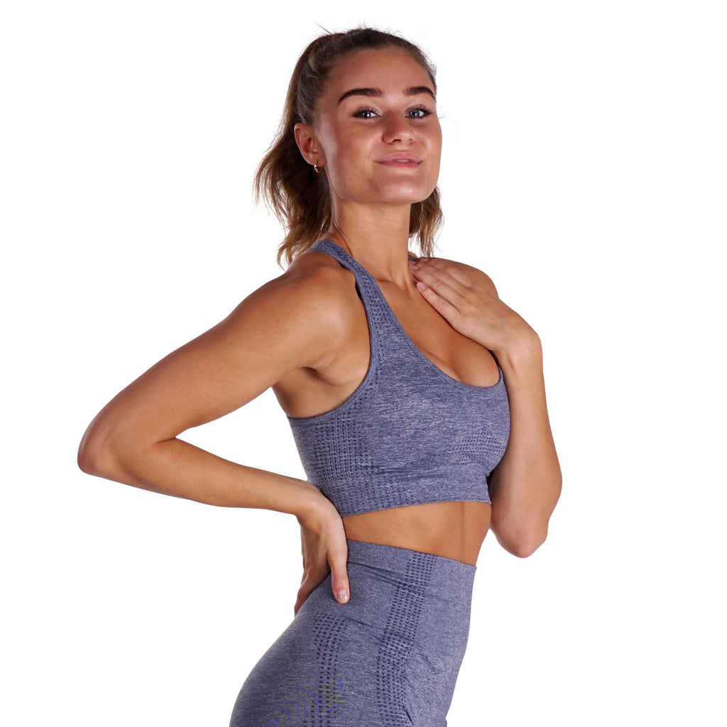 Fitness Motivation - Gray Lohilo Sports Bra - Lohilo