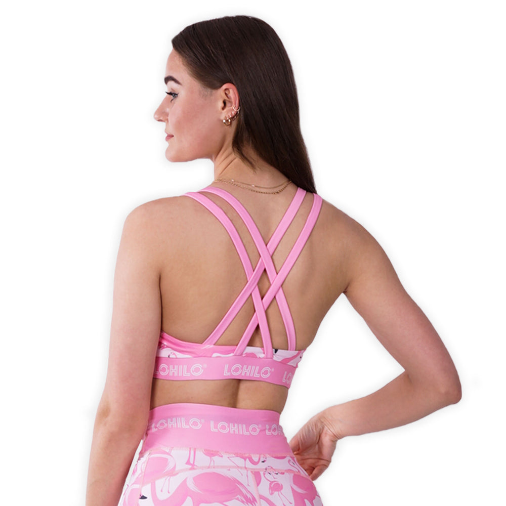 LOHILO Flamingo Sublimition Sports Bra