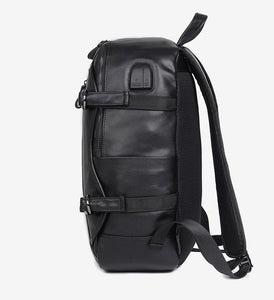 Fashion Backpack Handmade Leather Backpack with USB charge School Backpack Men Backpack - Unihandmade