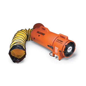 "8"" Axial AC COM-PAX-IAL Blower w/ Canister & 15' Ducting"