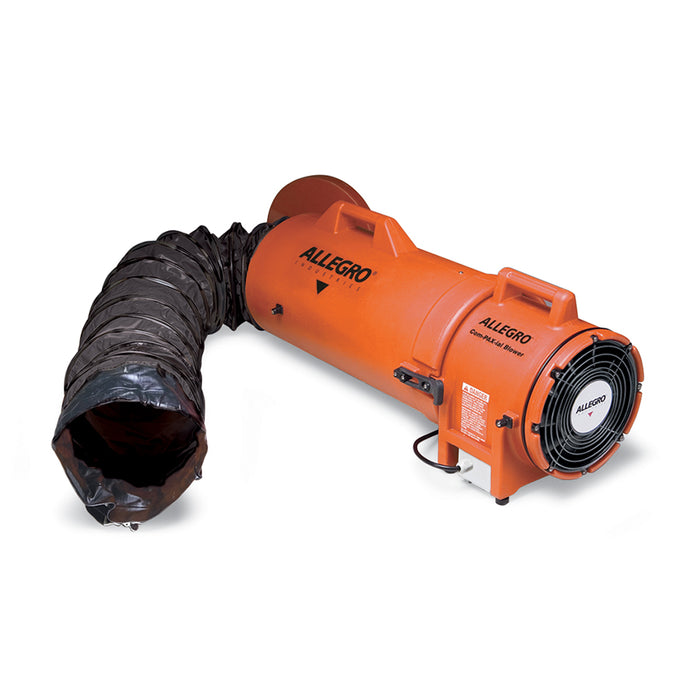 8″ Axial Explosion-Proof (EX) Plastic Blower w/ Compact Canister & Ducting