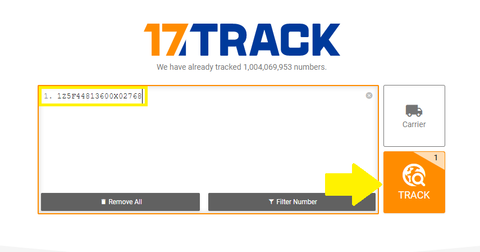 Image result for track button for 17track