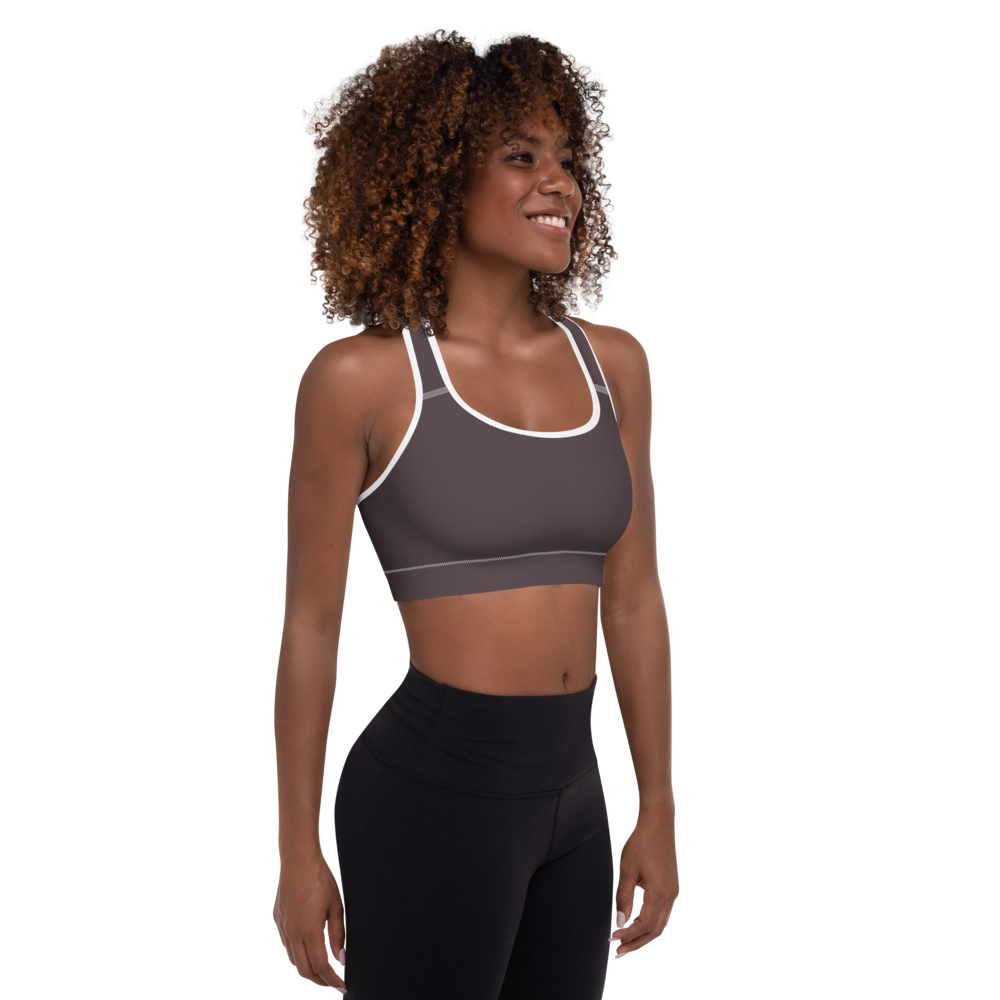 Bordeaux women padded sports bra