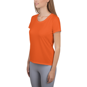 All-Over Print Women's Athletic T-shirt - AVENUE FALLS