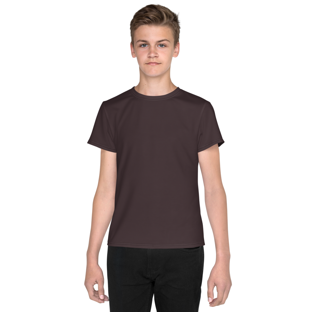 Bordeaux youth boy crew neck t-shirt