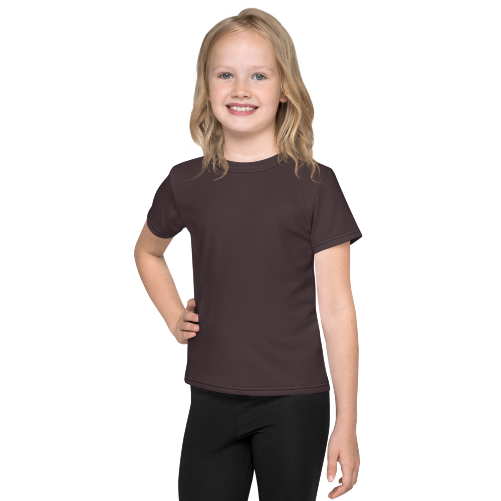 Bordeaux kids crew neck t-shirt