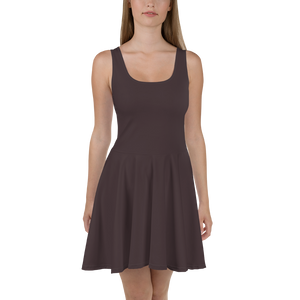 Bordeaux women skater dress