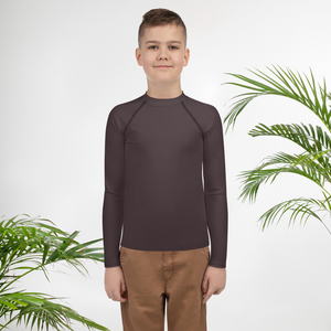 Bordeaux youth boy rash guard